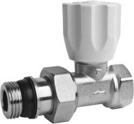 straight brass valve with a gland