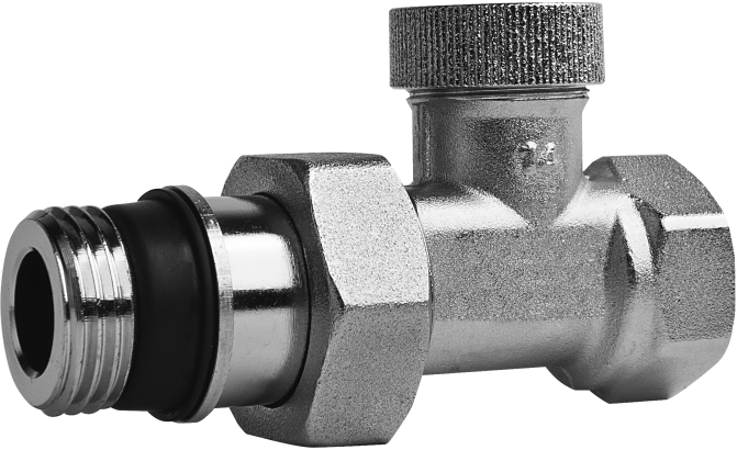 Brass angle cut-off valve